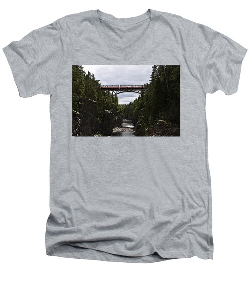 Helvetefallet Dalarna Sweden Men's V-Neck T-Shirt