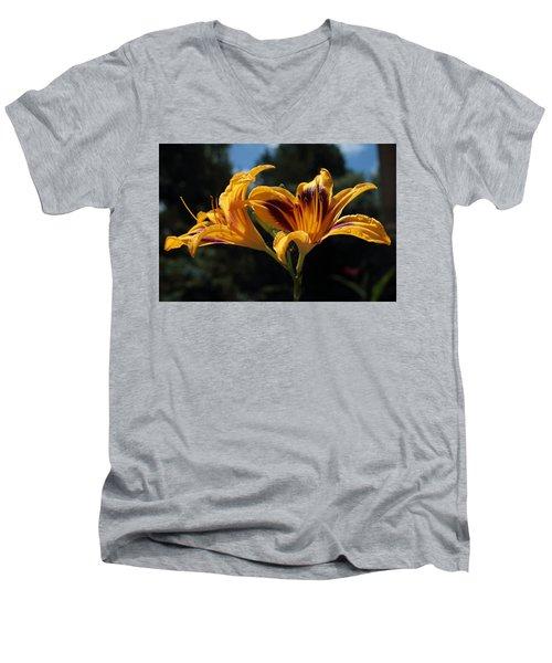 Hemerocallis Men's V-Neck T-Shirt
