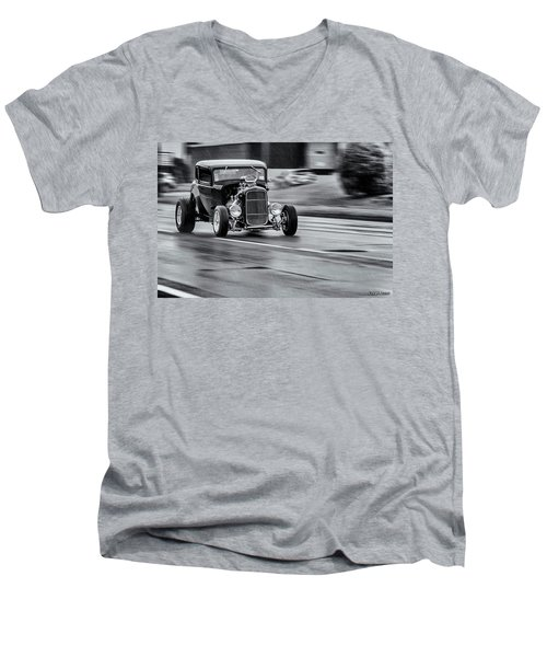 Hemi Powered 1932 Ford 5 Window Coupe Men's V-Neck T-Shirt