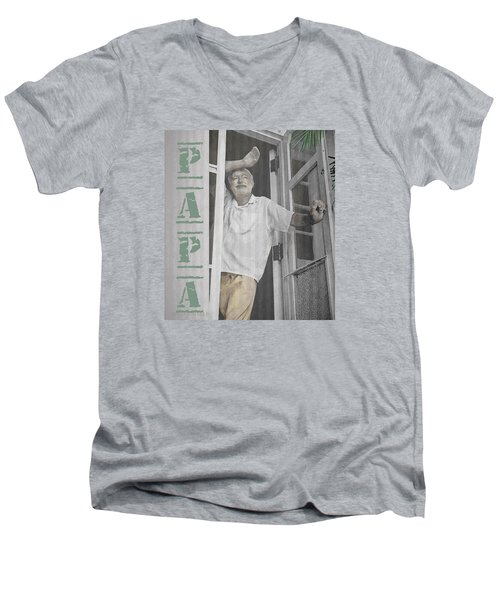 Hemingway In Cuba Men's V-Neck T-Shirt