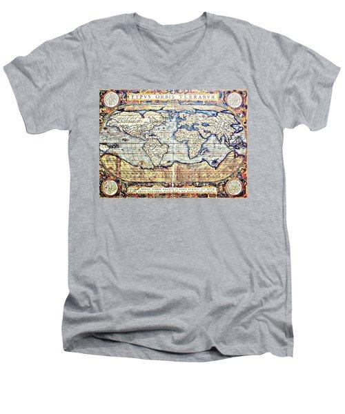 Hemisphere World  Men's V-Neck T-Shirt
