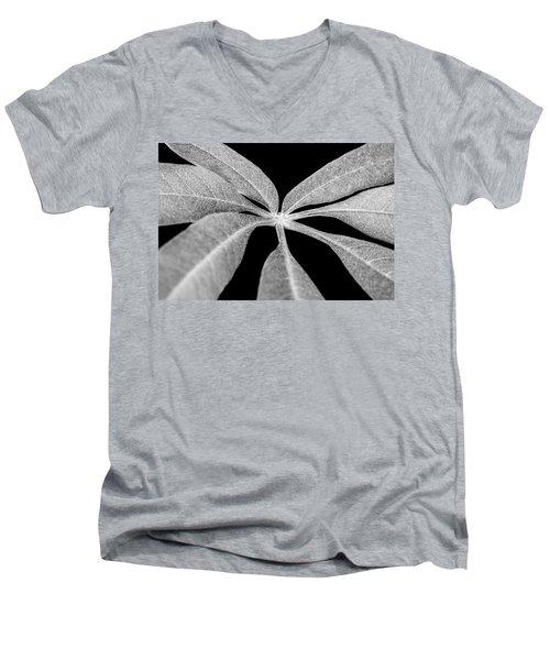 Hemp Tree Leaf Men's V-Neck T-Shirt