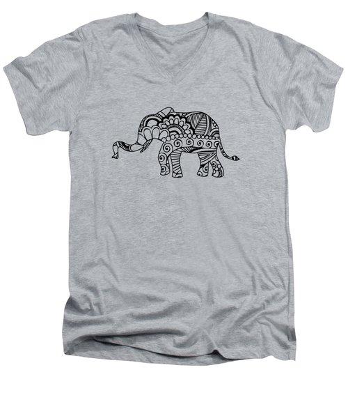 Henna Elephant 1 Men's V-Neck T-Shirt