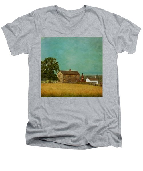 Henry House At Manassas Battlefield Park Men's V-Neck T-Shirt