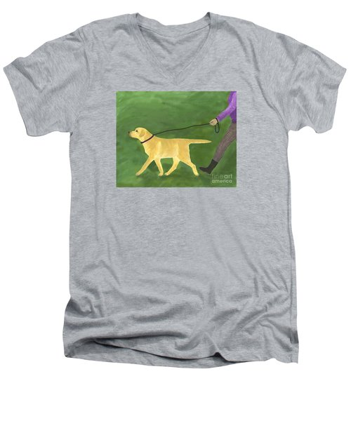 Her Dog Took Her Everywhere Men's V-Neck T-Shirt