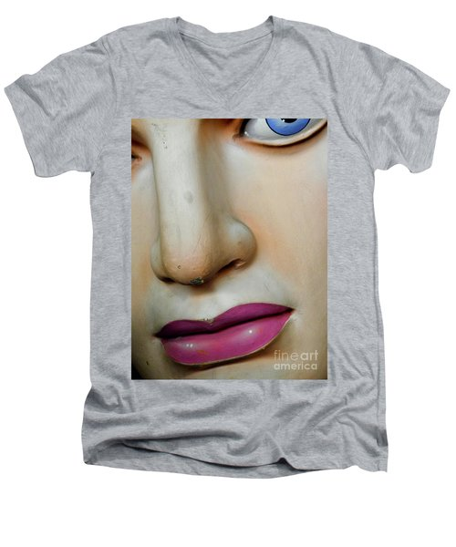 Men's V-Neck T-Shirt featuring the photograph Her Face by Valerie Reeves