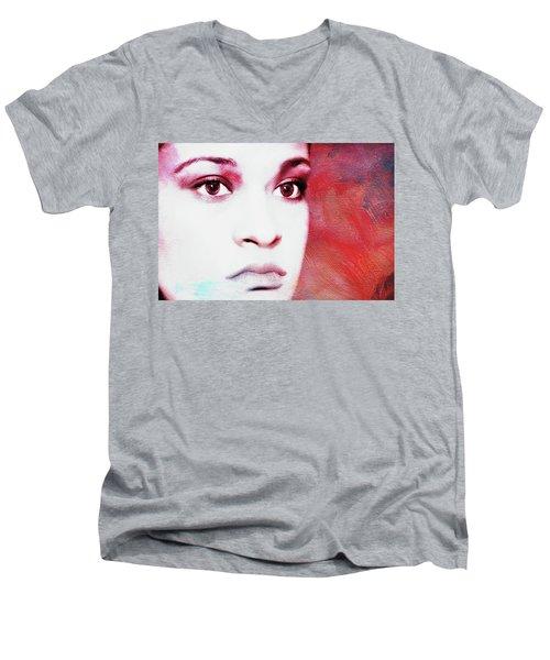Her Soul Men's V-Neck T-Shirt by Joan Bertucci