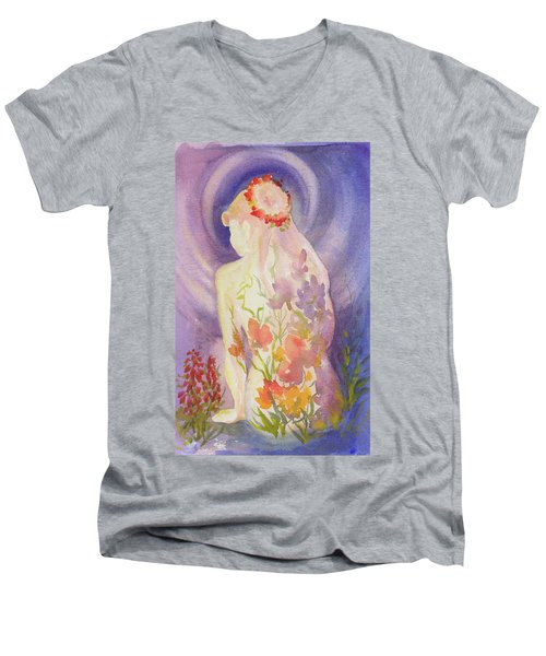 Herbal Goddess  Men's V-Neck T-Shirt