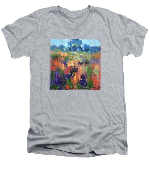 Men's V-Neck T-Shirt featuring the painting Herbs by Anastasija Kraineva