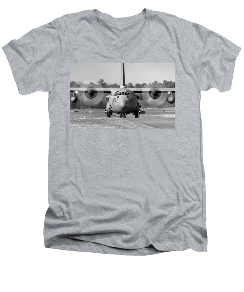 Hercules In Black And White Men's V-Neck T-Shirt