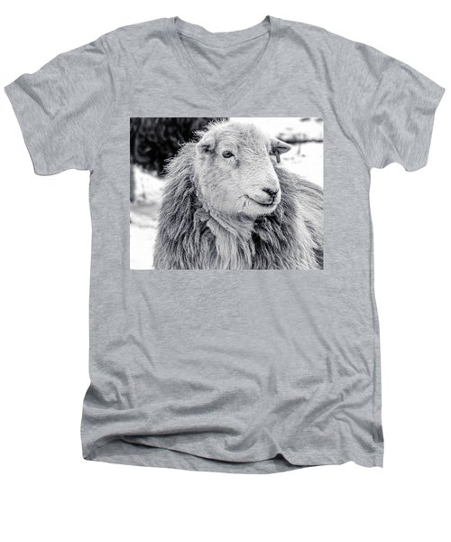 Men's V-Neck T-Shirt featuring the photograph Herdwick Sheep by Keith Elliott