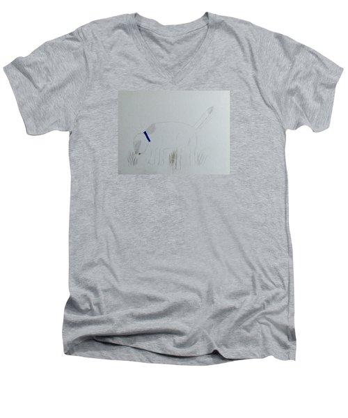 Here Boy Men's V-Neck T-Shirt by Alohi Fujimoto