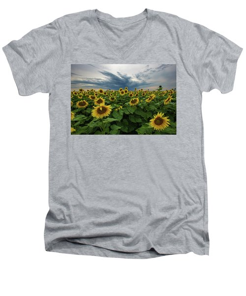 Here Comes The Sun Men's V-Neck T-Shirt by Aaron J Groen