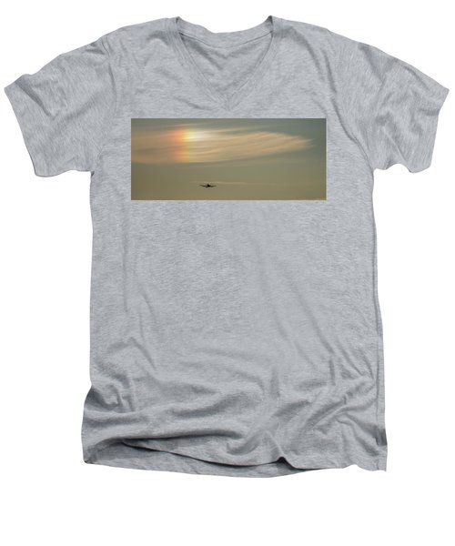 Here We Go Into The Wild Blue Yonder Men's V-Neck T-Shirt