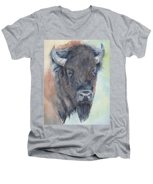 Here's Looking At You - Bison Men's V-Neck T-Shirt