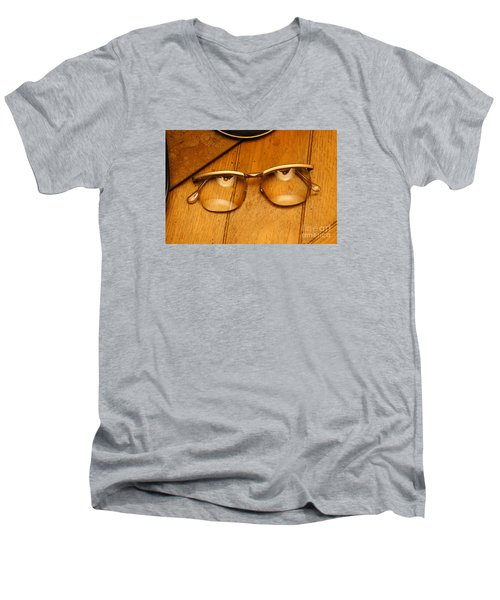 Here's Looking At You Men's V-Neck T-Shirt by Paul  Wilford
