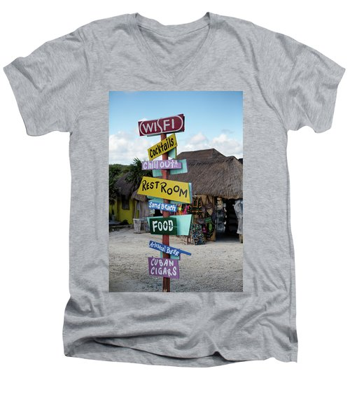Here's What's Here 1 Men's V-Neck T-Shirt