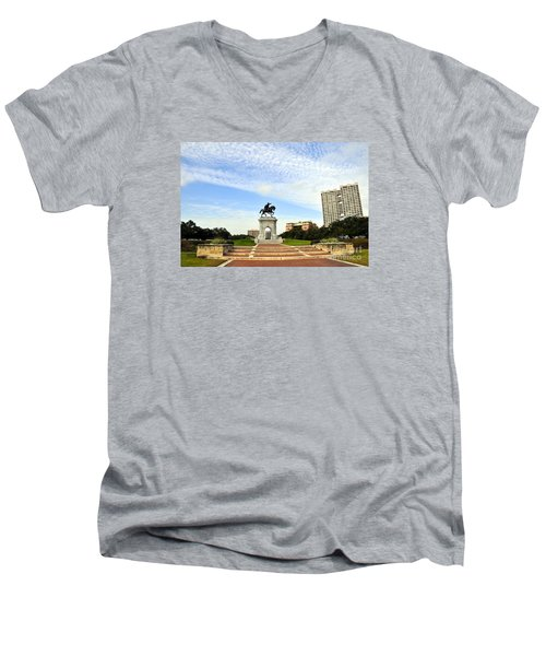 Herman Park 3 Men's V-Neck T-Shirt