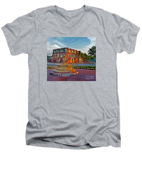 Hermannhof Festhalle Men's V-Neck T-Shirt by William Fields