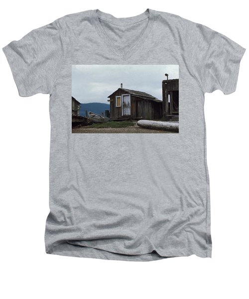 Men's V-Neck T-Shirt featuring the photograph Hermit by Laurie Stewart