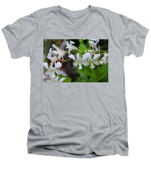 Men's V-Neck T-Shirt featuring the photograph Hero Of My Heart by Michiale Schneider