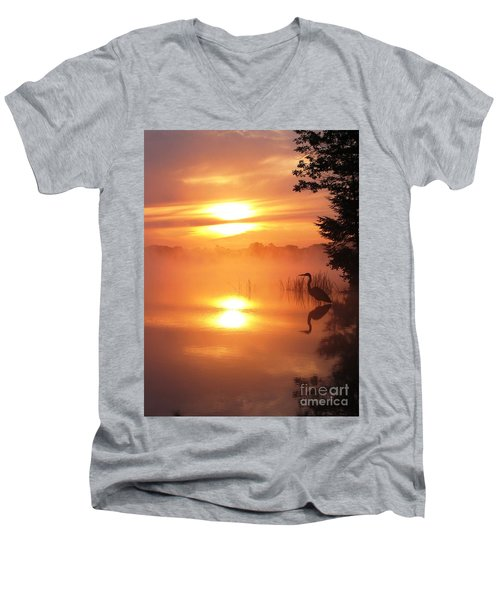 Heron Collection 2 Men's V-Neck T-Shirt