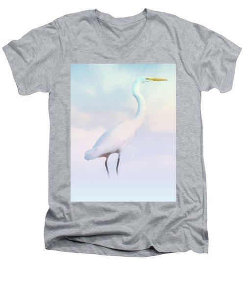 Heron Or Egret Stance Men's V-Neck T-Shirt