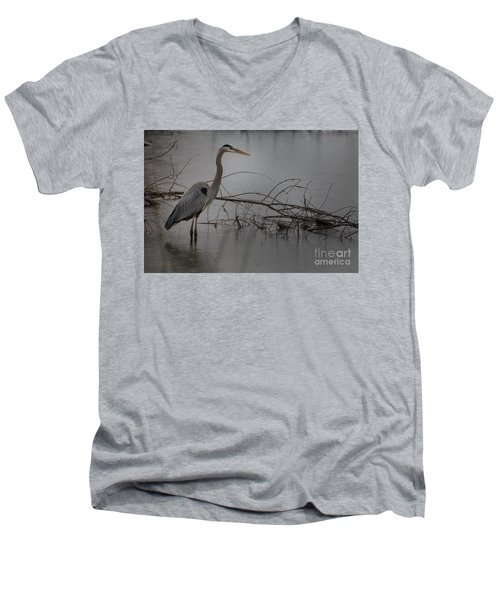 Heron Men's V-Neck T-Shirt
