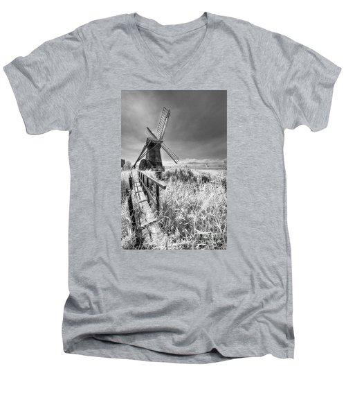 Herringfleet Pump Norfolk Uk Men's V-Neck T-Shirt by Jack Torcello