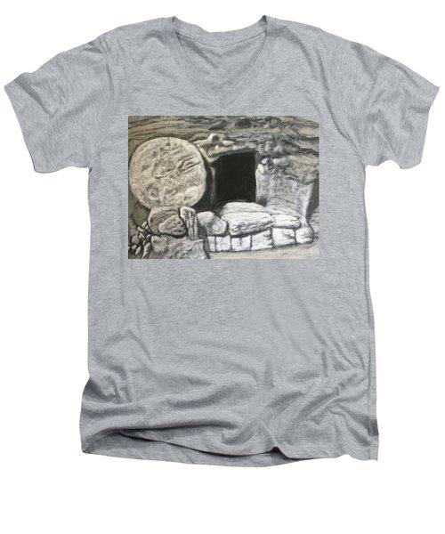 He's Not Here Men's V-Neck T-Shirt