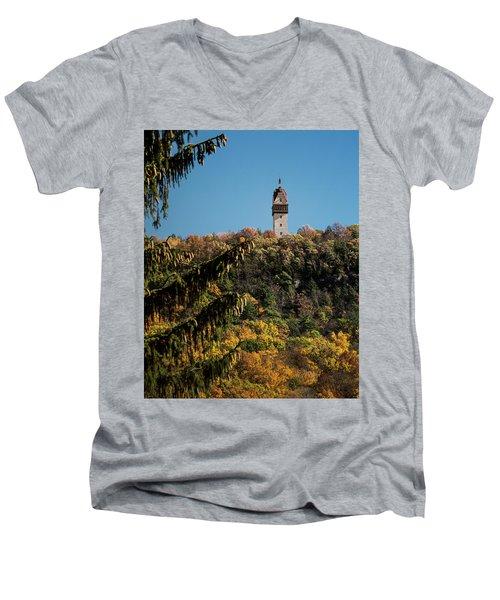 Heublein Tower Men's V-Neck T-Shirt