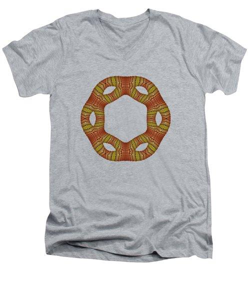 Hexagonyl Tile Men's V-Neck T-Shirt