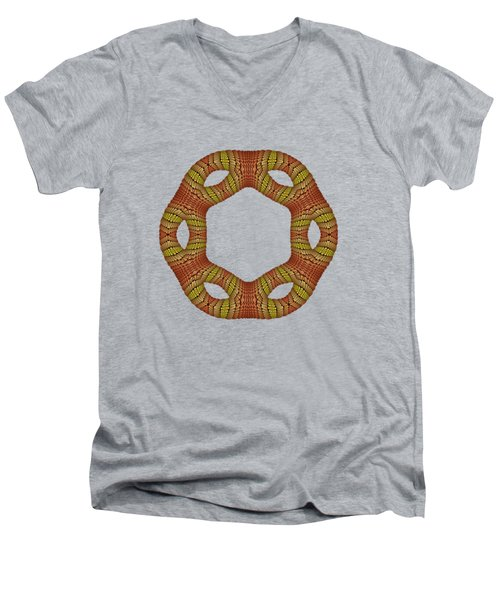 Hexagonyl Tile Men's V-Neck T-Shirt