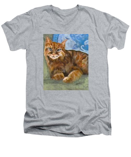 Hey Diddle Diddle  Men's V-Neck T-Shirt by Barbara O'Toole