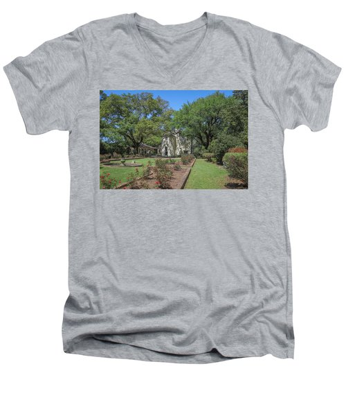 Men's V-Neck T-Shirt featuring the photograph Heyman House Garden 5 by Gregory Daley  PPSA