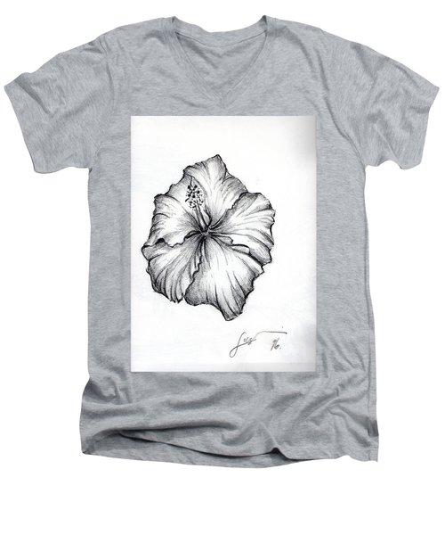 Hibiscus Flower  Men's V-Neck T-Shirt