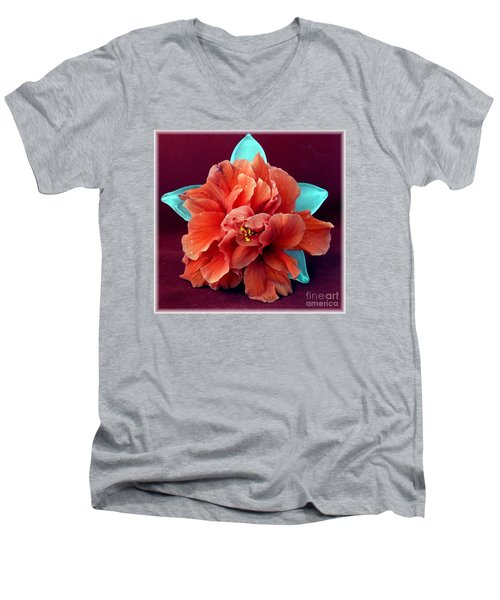 Hibiscus On Glass Men's V-Neck T-Shirt