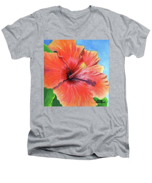 Hibiscus Passion Men's V-Neck T-Shirt