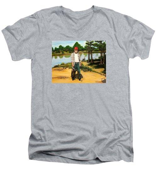 Hickie Men's V-Neck T-Shirt