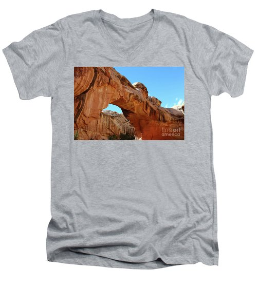 Hickman Bridge Capitol Reef Men's V-Neck T-Shirt