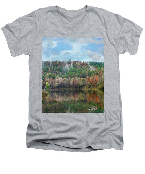 Hickory Forest Men's V-Neck T-Shirt