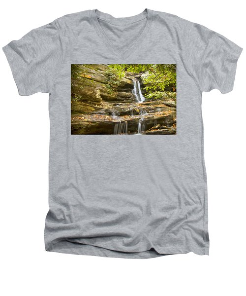 Hidden Falls-hanging Rock State Park Men's V-Neck T-Shirt
