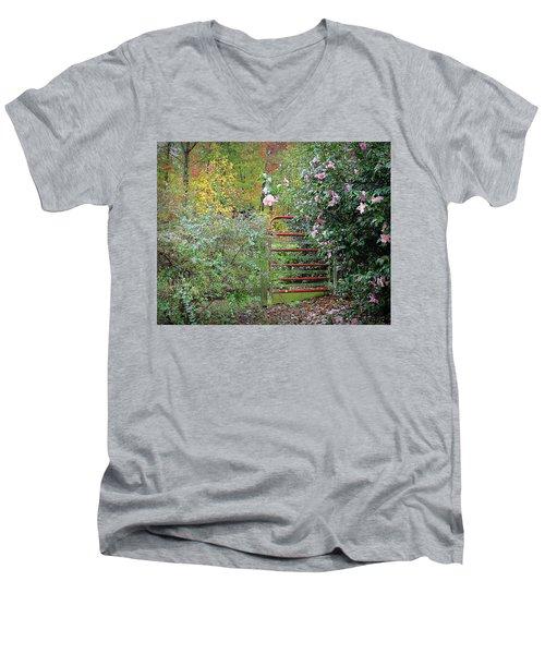 Hidden Gate Men's V-Neck T-Shirt by Bellesouth Studio