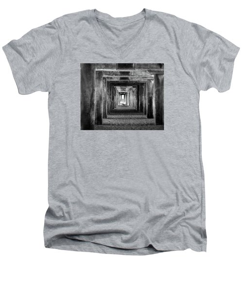 Hidden Illusions 2 Bw Men's V-Neck T-Shirt