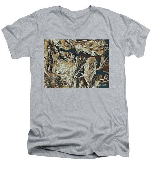 Men's V-Neck T-Shirt featuring the photograph Hidden In Plain Sight by Kathie Chicoine