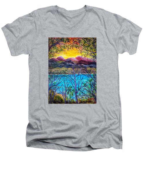Hidden Lake Men's V-Neck T-Shirt