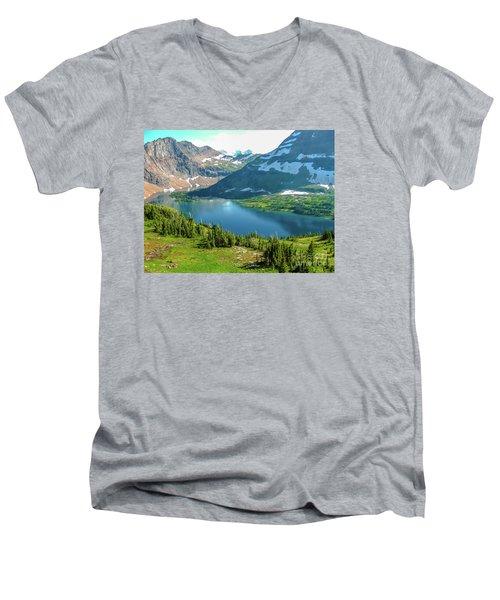 Hidden Lake Glacier National Park Men's V-Neck T-Shirt