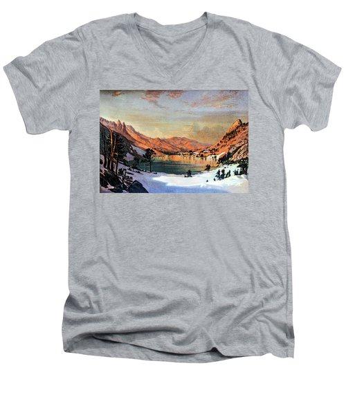 Hidden Lake Western United States Men's V-Neck T-Shirt