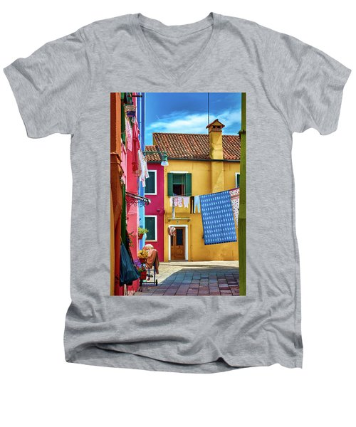 Hidden Magical Alley Men's V-Neck T-Shirt