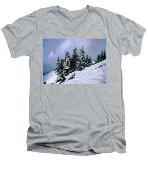 Men's V-Neck T-Shirt featuring the photograph Hidden Peak by Jim Hill